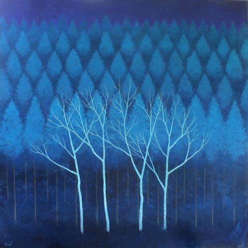 Yuji YOKOYAMA_Sleeping Trees, 36'' x 36''